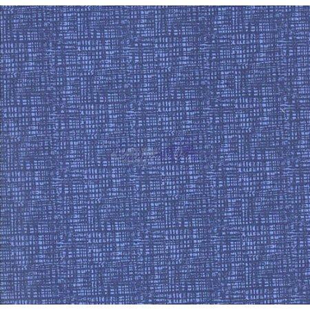Tricoline Textura Efeito (Azul Médio), 100% Algodão, Unid. 50cm x 1,50mt
