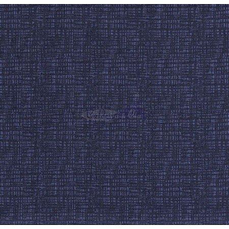 Tricoline Textura Efeito (Marinho Noite), 100% Algodão, Unid. 50cm x 1,50mt