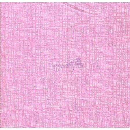 Tricoline Textura Efeito (Rosa Chiclete), 100% Algodão, Unid. 50cm x 1,50mt