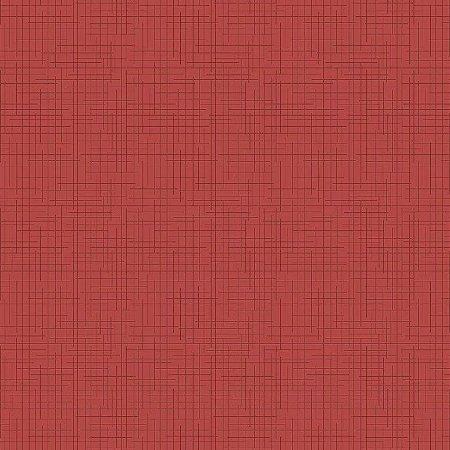 Tecido Tricoline Textura Vermelha, 100% Algodão, Unid. 50cm x 1,50mt