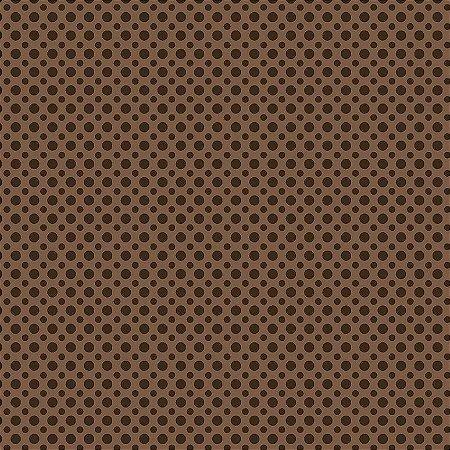 Tecido Tricoline Poá Tom Café, 100% Algodão, Unid. 50cm x 1,50mt