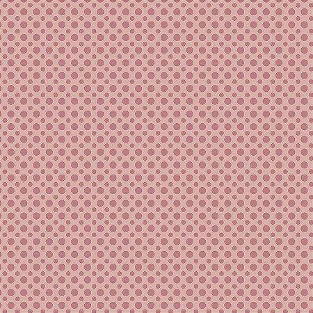 Tecido Tricoline Poá Tom Salmão, 100% Algodão, Unid. 50cm x 1,50mt