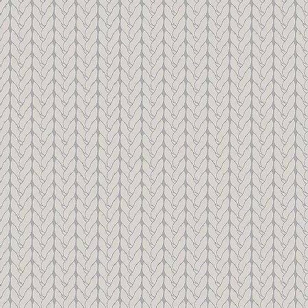Tecido Tricoline Tricô Básico Cinza, 100% Algodão, Unid. 50cm x 1,50mt