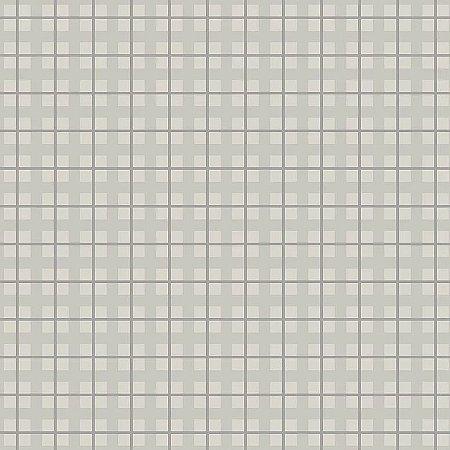 Tecido Tricoline Xadrez Baby Cinza, 100% Algodão, Unid. 50cm x 1,50mt