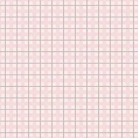 Tecido Tricoline Xadrez Baby Rosa, 100% Algodão, Unid. 50cm x 1,50mt