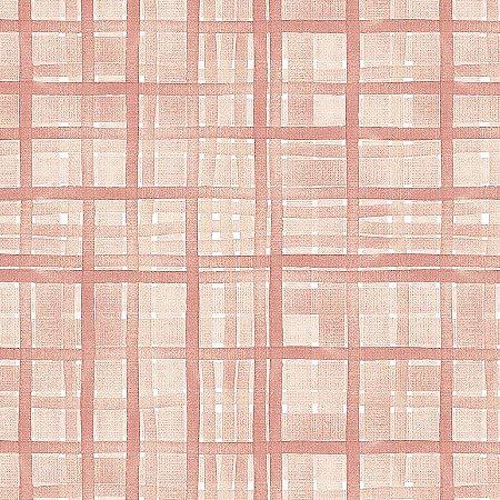 Tricoline Digital Xadrez Veneza Rosê, 100% Algodão, Unid. 50cm x 1,50mt