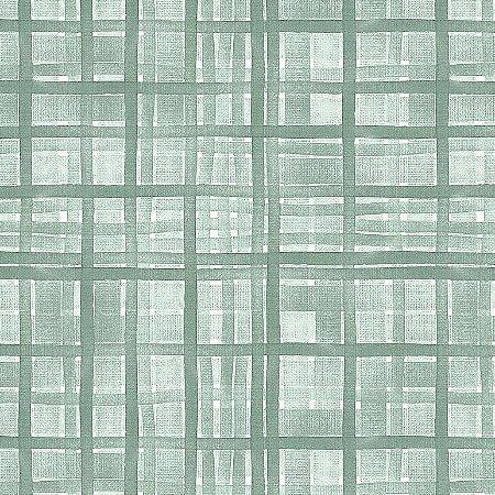 Tricoline Digital Xadrez Veneza Menta, 100% Algodão, Unid. 50cm x 1,50mt