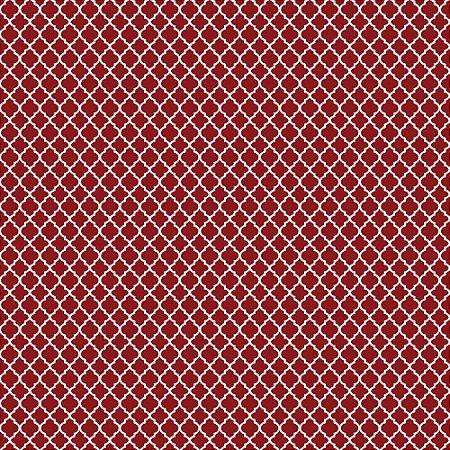 Tricoline Estampado Mini Vitral Vermelho, 100% Algodão, Unid. 50cm x 1,50mt