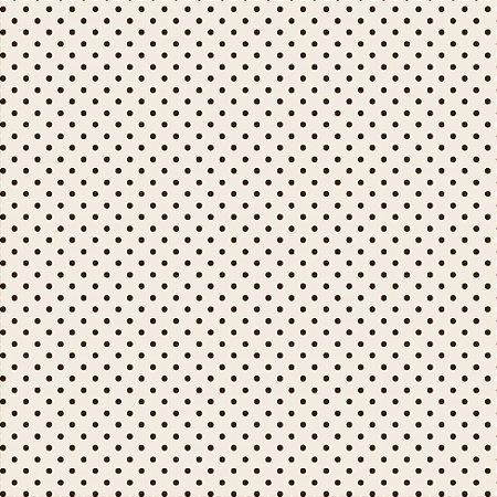 Tricoline Estampado Mini Poá Marrom, 100% Algodão, Unid. 50cm x 1,50mt