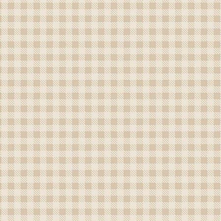 Tricoline Estampado Xadrez Creme, 100% Algodão, Unid. 50cm x 1,50mt