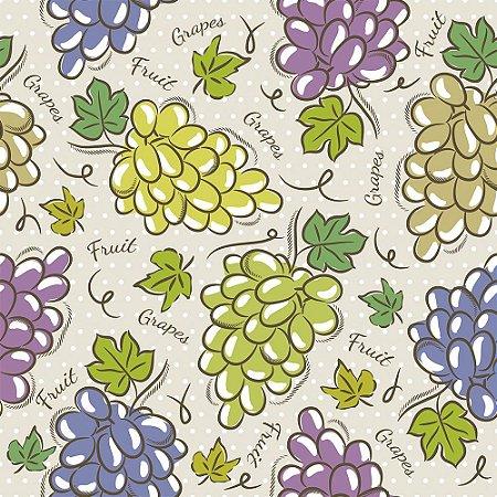 Tricoline Estampado Grapes, 100% Algodão, Unid. 50cm x 1,50mt
