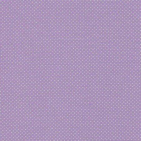 Tricoline Estampado Micro Poá Lilás Médio, 100% Algodão, Unid. 50cm x 1,50mt