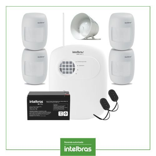 Kit Central Alarme Sensor Com Fio Intelbras Anm 3004 St Completo