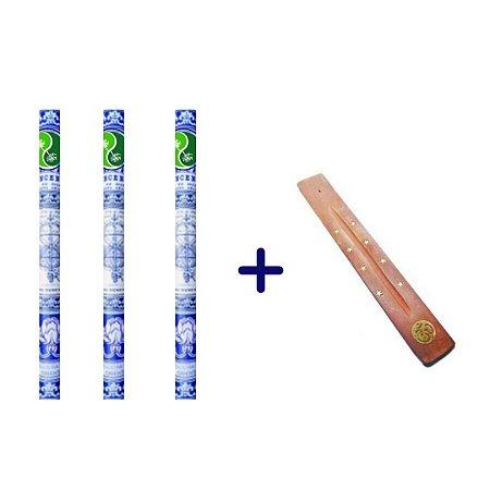 Kit com 3 Incensos + incensário - c/ DESCONTO