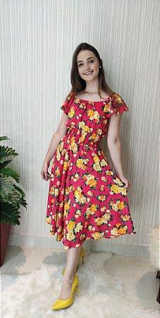 Vestido Jardim Rosa