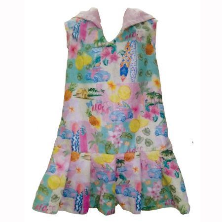 Vestido Infantil com Capuz Lola - Paradise/Pink Dot