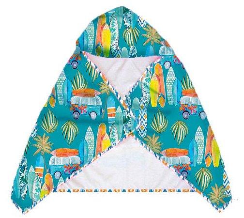 Toalha Infantil com Capuz Bora Bora - Makai/Alohi