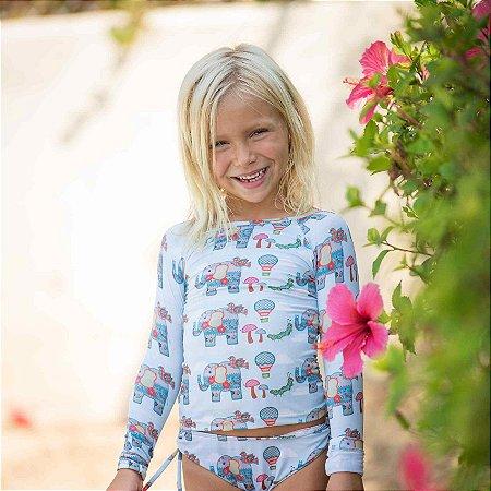 Camisa UV Infantil Menina Manga Longa Kailua - Luna