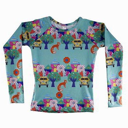 Camisa UV Infantil Menina Manga Longa Kailua - Kali