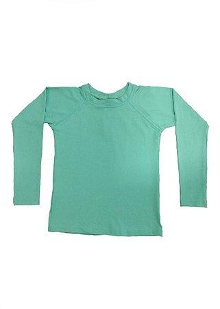 Xz2T-Camisa UV Manga Longa Menino Leon - Verde Água
