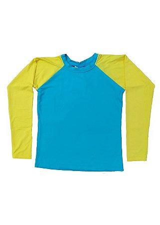 Camisa UV Infantil Menino Manga Longa Montreal - Thaiti/Sun