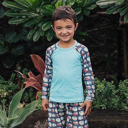 Camisa UV Infantil Menino Manga Longa Zuma - Sky/Oscar