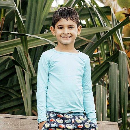 Camisa UV Infantil Menino Manga Longa Leon - Sky
