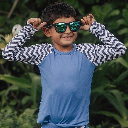 Camisa UV Infantil Menino Manga Longa Zuma - Azul/Sol