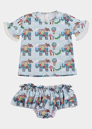 Conjunto Bebê Camisa e Calcinha Keiki - Luna