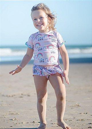 VcA-Kit Camisa e Calcinha Bebê Keiki - Rosy