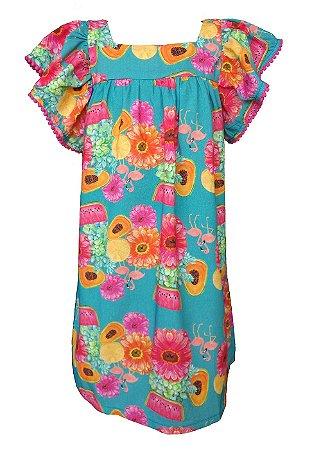 Vestido Infantil Estampado Honolua - Pua