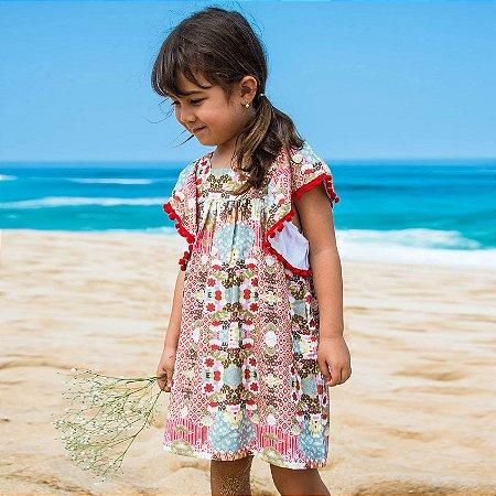 Vestido Infantil Estampado Honolua - Ginger