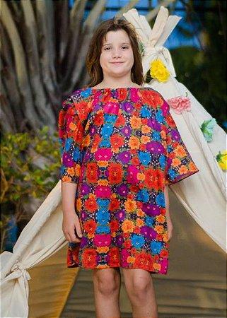 VdL-Vestido Infantil Estampado Colômbia - Zoe