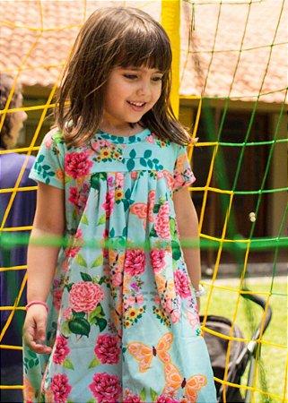 Vestido Infantil Estampado Floral - Dhalia