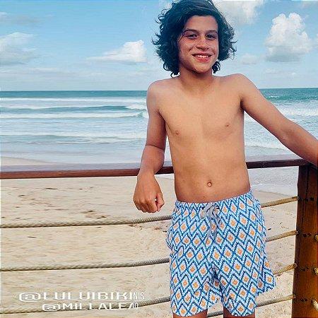 Bermuda Infantil Masculina Estampada Papeet - Alohi