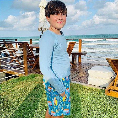 Bermuda Infantil Masculina Estampada Papeet - Makai