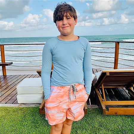 Bermuda Infantil Masculina Estampada Papeet - Rose