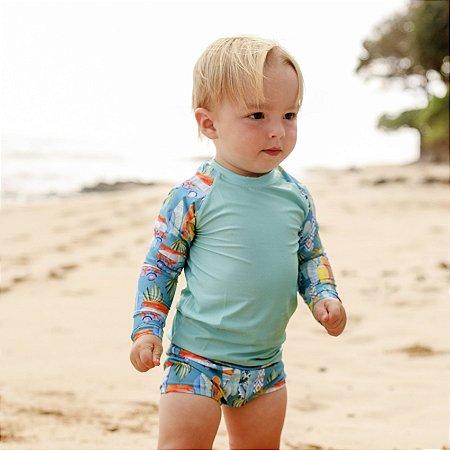 Camisa UV Infantil Menino Manga Longa Zuma - Makai