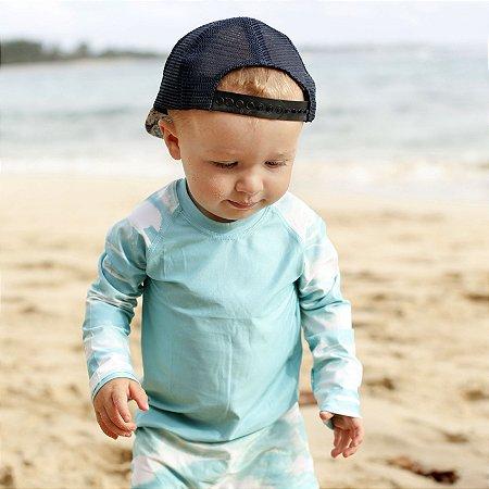 Camisa UV Infantil Menino Manga Longa Zuma - Sky