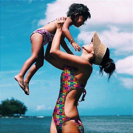 Maiô Adulto Mãe Estampado Colômbia - Lana