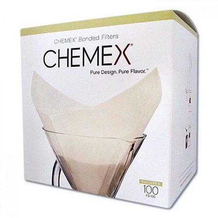 Filtro Chemex Quadrado pré dobrado Squares 100UN FS100