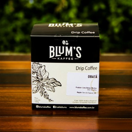 Caixa Drip Coffee - Café Especial  Obatã 10g x 10un