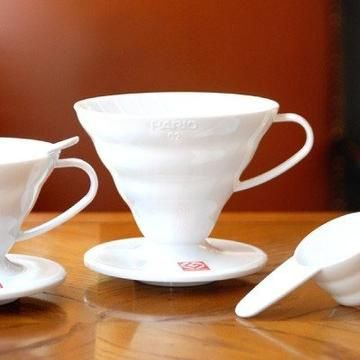 Hario V60 02 Suporte para Filtro de Café de plástico Branco