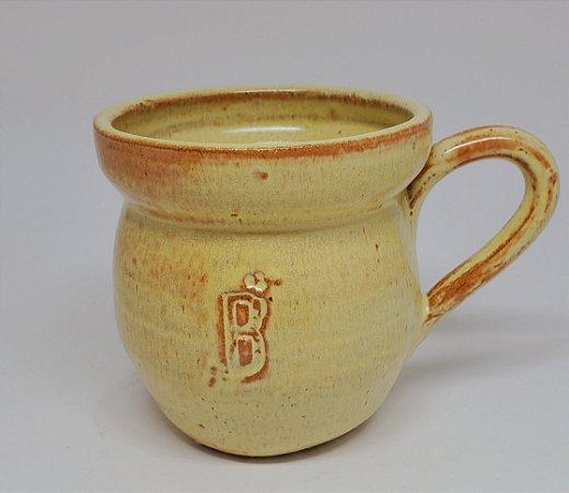 Xícara Grande com Alça e Pescoço - Cerâmica Rústica Artesanal