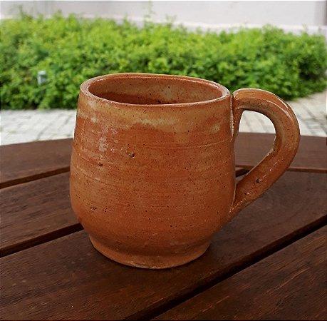 Xícara artesanal de cerâmica - com alça