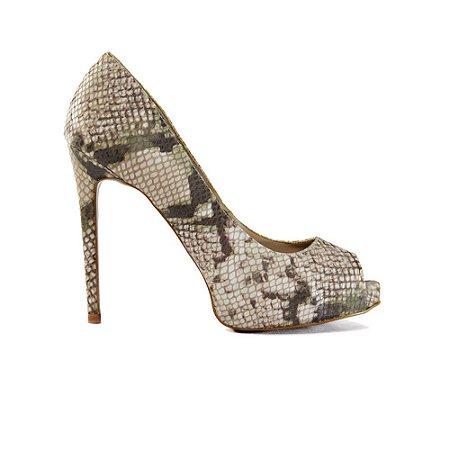 Sapato Feminino Peep Toe SHEPZ Animal Print