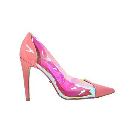 Sapato Feminino Scarpin SHEPZ Verniz Vinil Coral