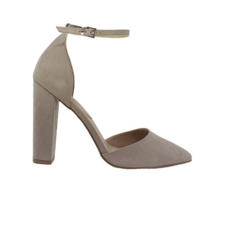 Sapato Feminino Scarpin SHEPZCouro Cinza
