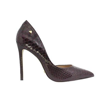 Sapato Feminino Scarpin SHEPZ Croco Roxo