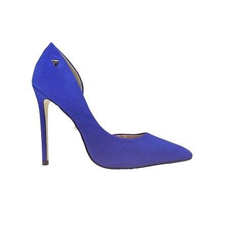 Sapato Feminino Scarpin SHEPZ Couro Azul